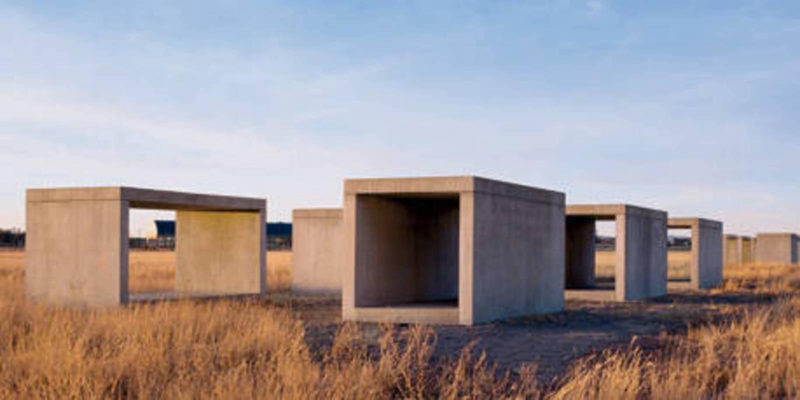 Marfa, Texas - Art - Chinati - Donald Judd - Open House | 1600 x 800 jpeg 84kB