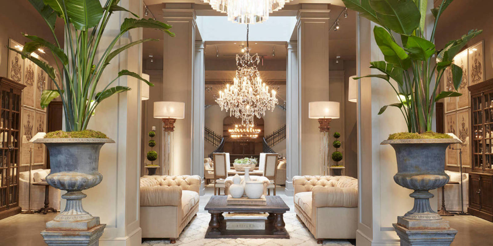 Restoration hardware 39 s latest store delivers the goods for Home design restoration