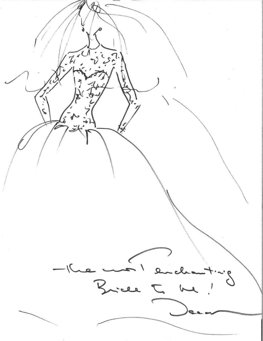 Why i wore oscar aerin lauder reflects on choosing her wedding dress