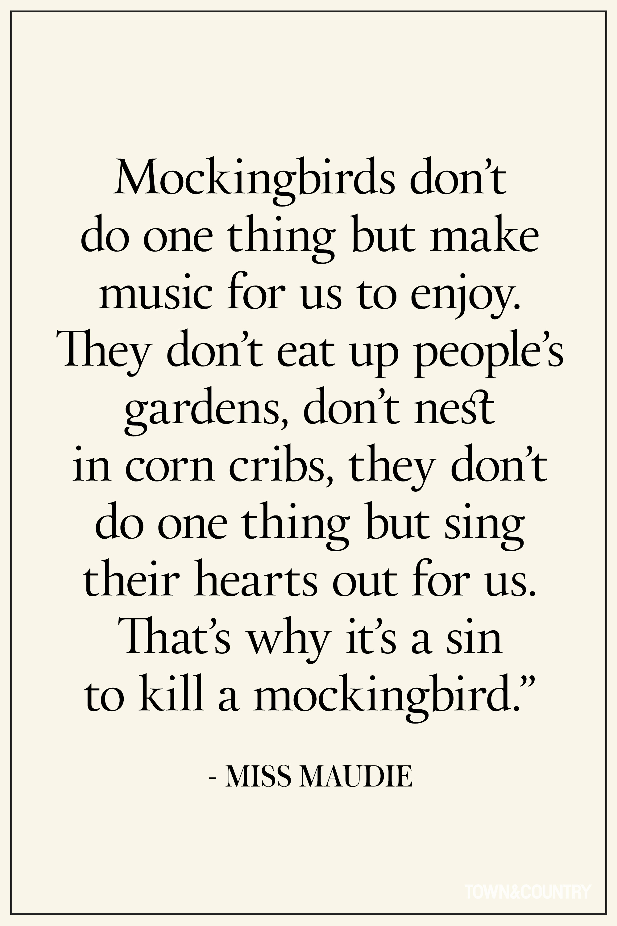 pick a quote from the book to kill a mockingbird essay From to kill a mockingbird specific examples and direct quotations from the book choose another quote.