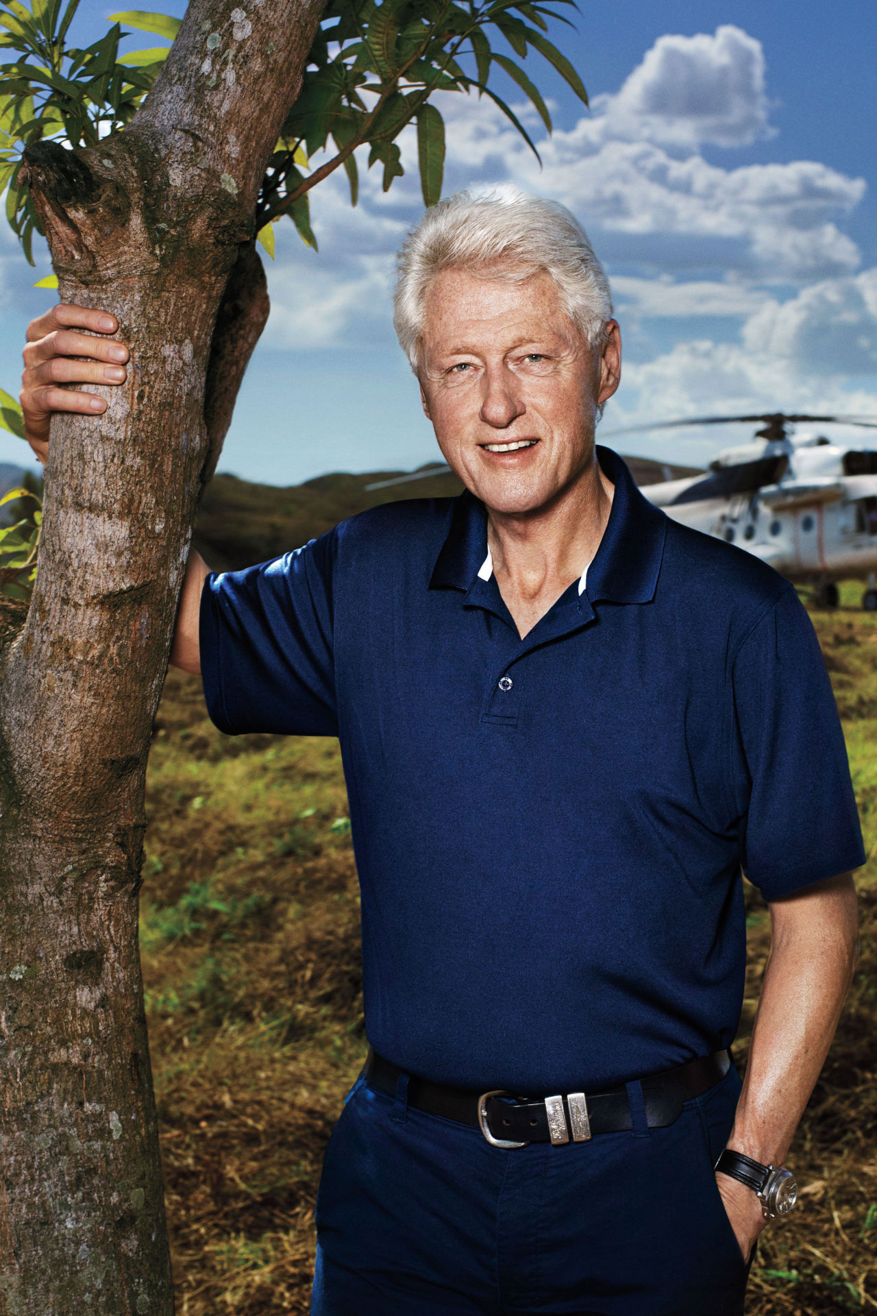 Bill Clinton photographed by Alexei Hay on Haiti's Central Plateau.