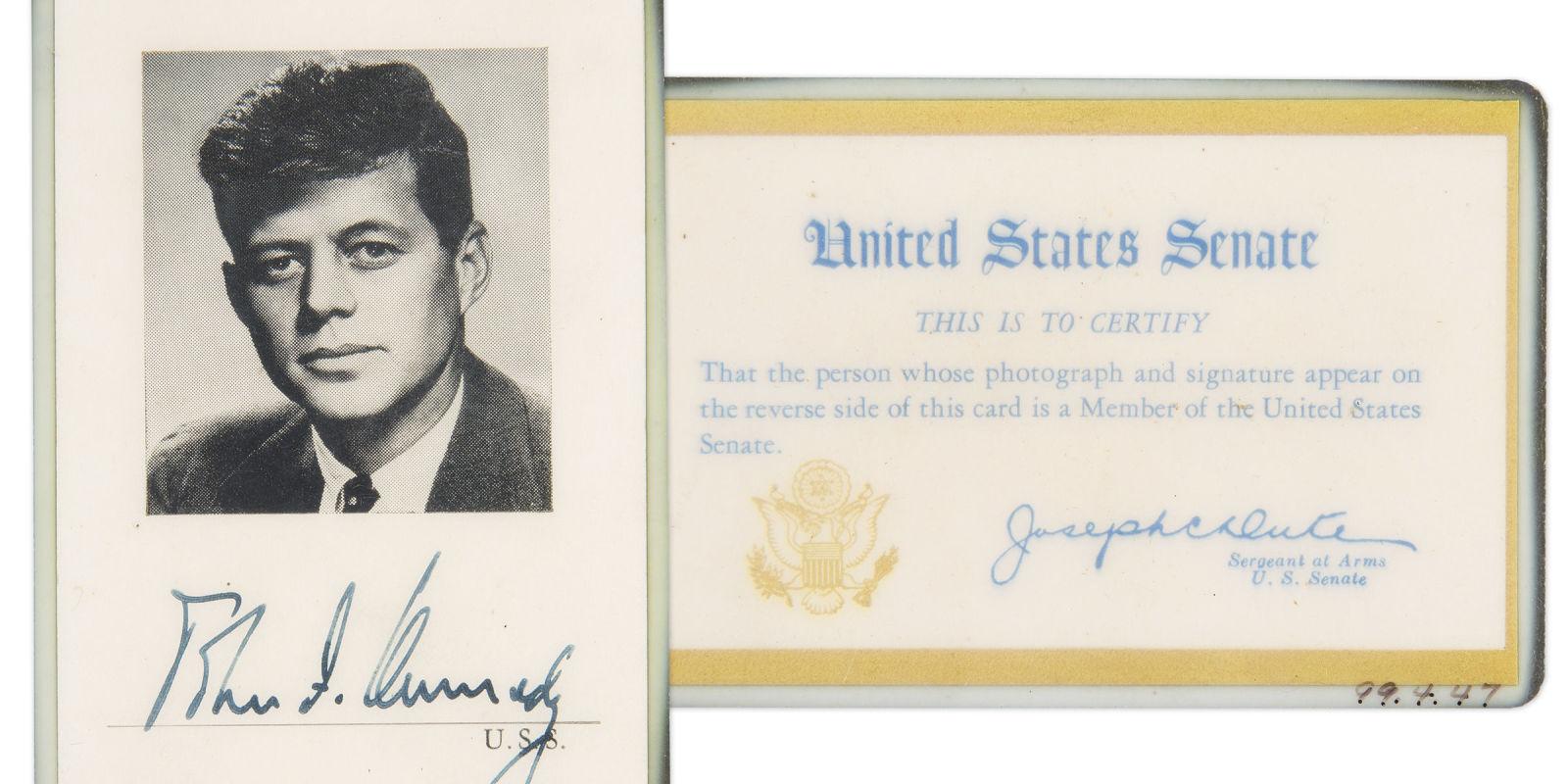 JFK Auction JFK Memorabilia. Full resolution  image, nominally Width 1600 Height 800 pixels, image with #646D5E.