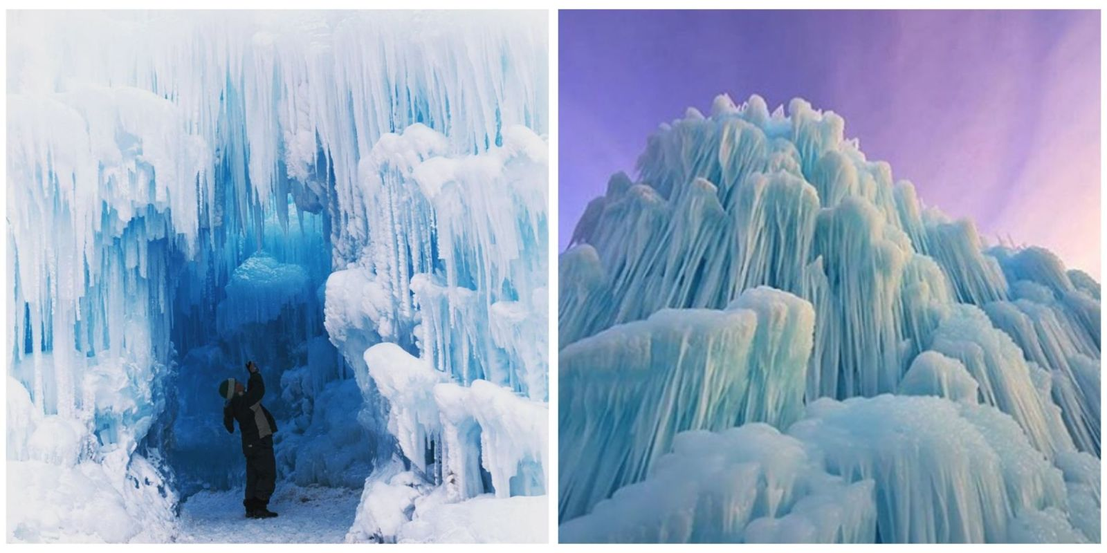 Ice Castle New Hampshire Incredible Ice Sculpture Photos