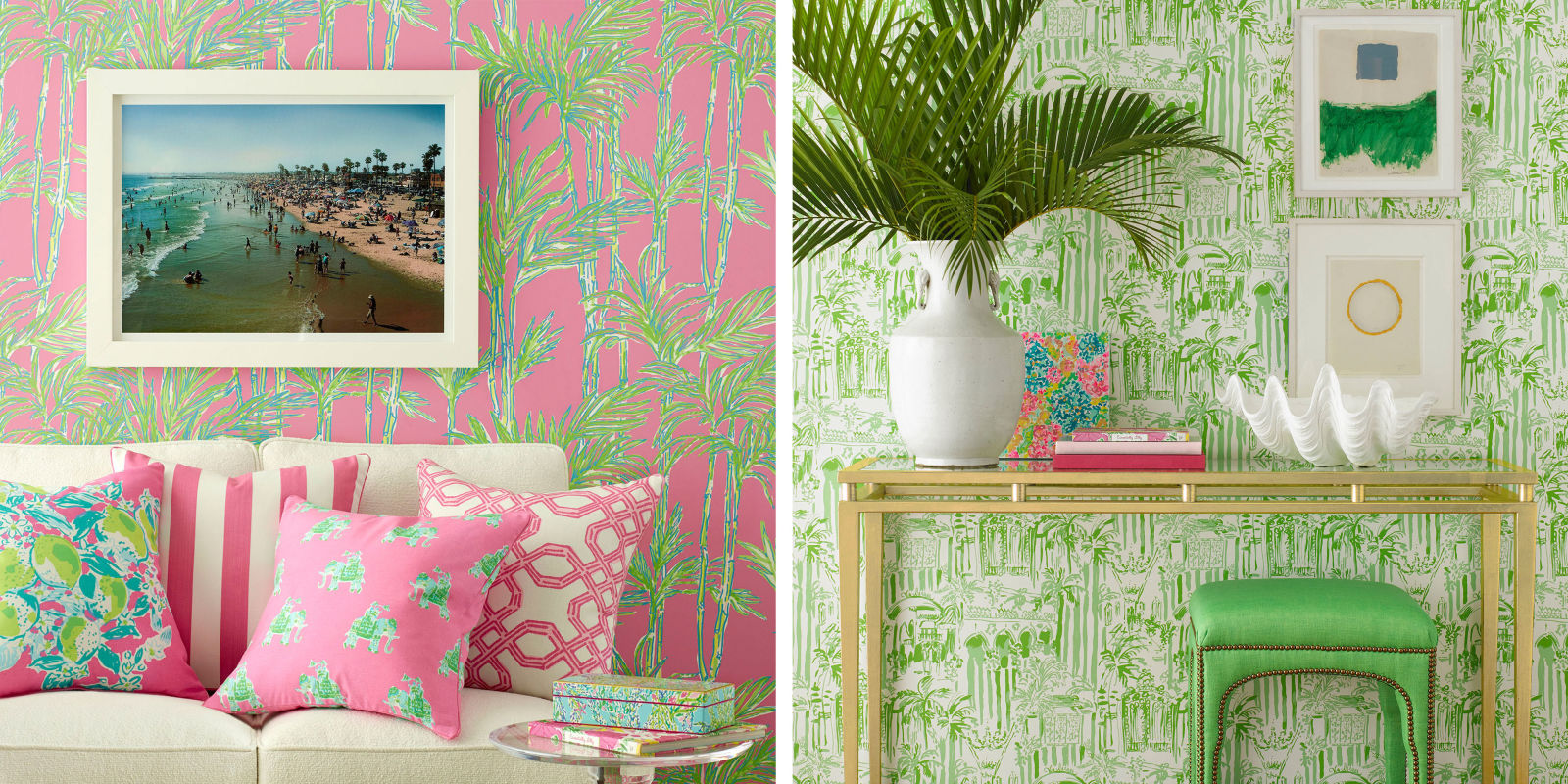 lilly pulitzer wallpaper lilly pulitzer 39 s new collaboration. Black Bedroom Furniture Sets. Home Design Ideas