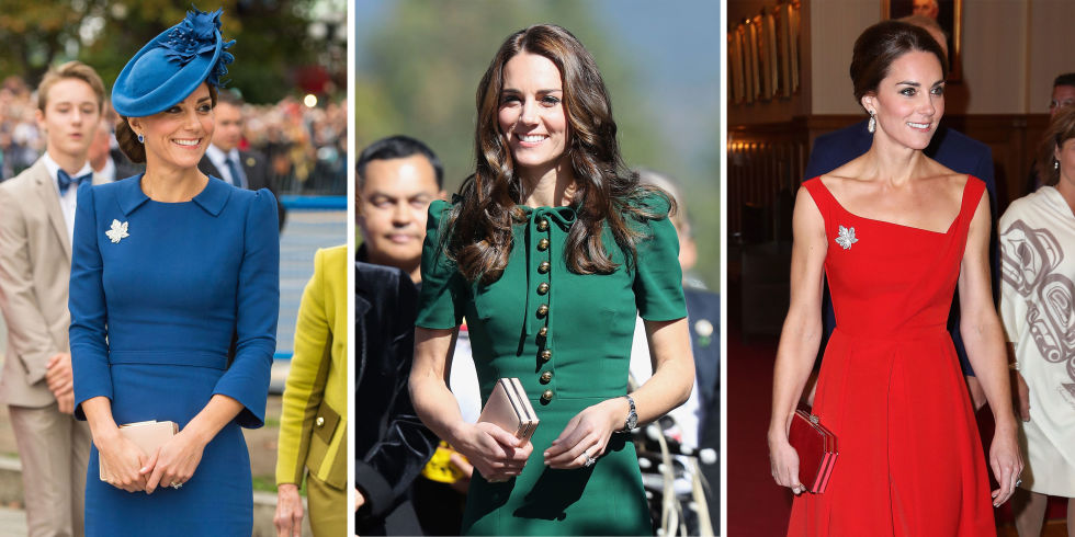 kate middleton wearing bright colors
