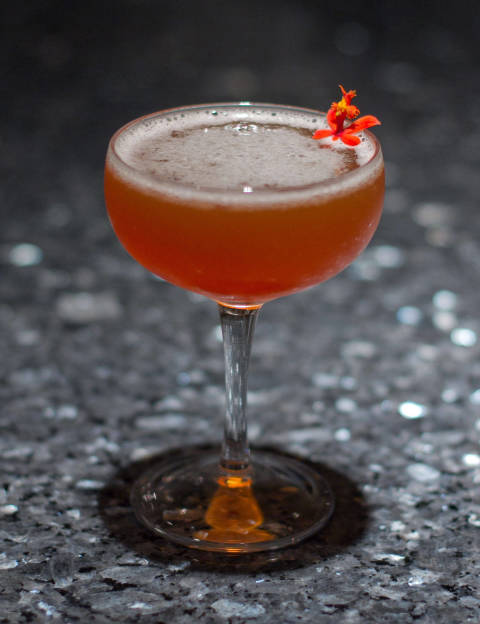 The recipe for this drink comes from bar manager Bill Anderson at Vie, located in the Chicago suburb of Western Springs, IL: 1.5 oz Olmeca Altos reposado tequila .75 oz fresh lemon juice .75 oz Pineau des Charentes .5 oz Carpano Antica sweer vermouth .5 oz smoked maple syrup 1 dash angostura bitters Pinch of salt Lemon for garnish Combine all ingredients in a cocktail shaker with ice. Shake until the outside of the shaker is frosted. Strain into a chilled coupe glass. Garnish with a twist of lemon, and sprinkle a small pinch of fine salt over the drink's surface.