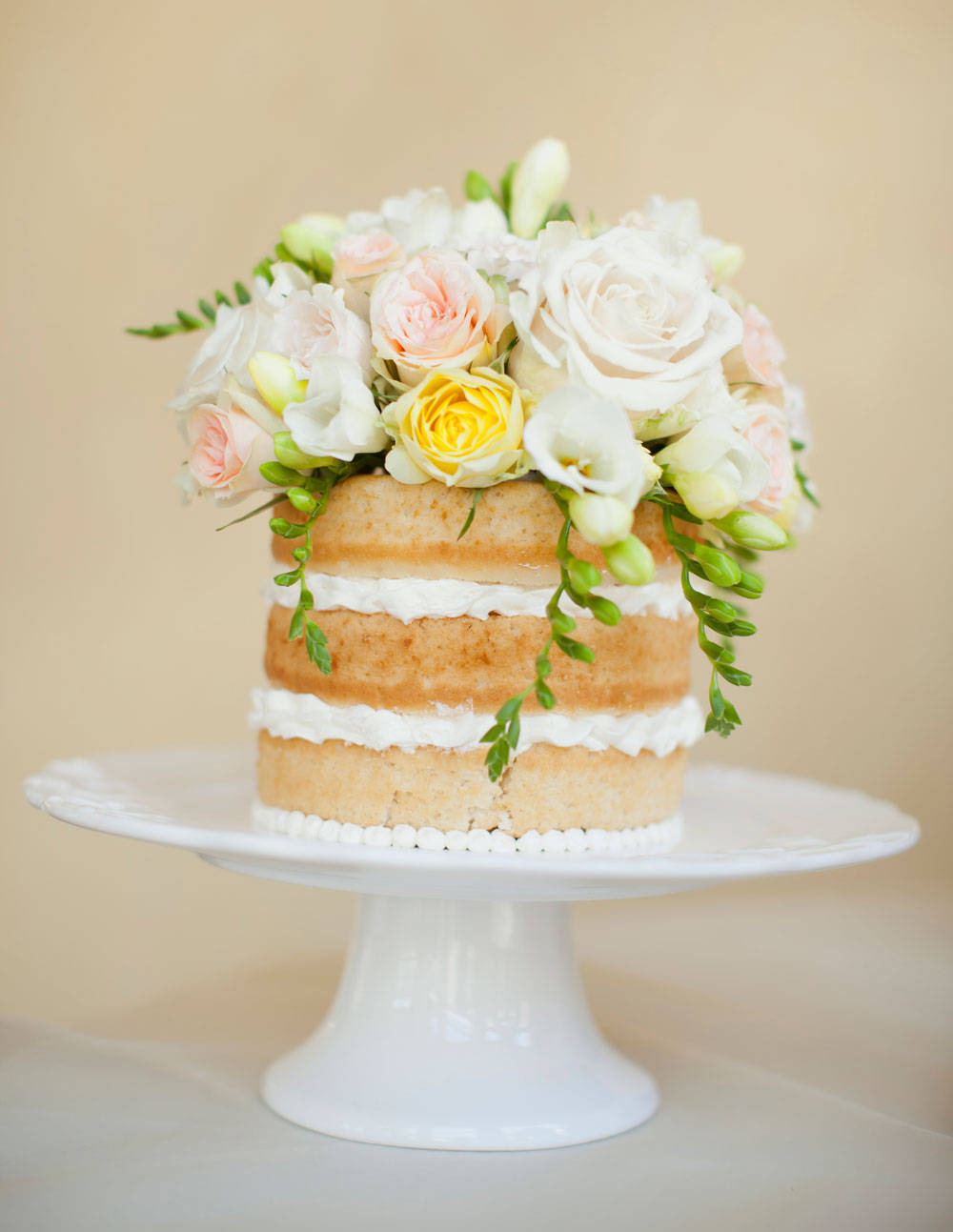 Cake Designs Without Icing : Wedding Cakes Without Fondant - Wedding Cakes Without Frosting
