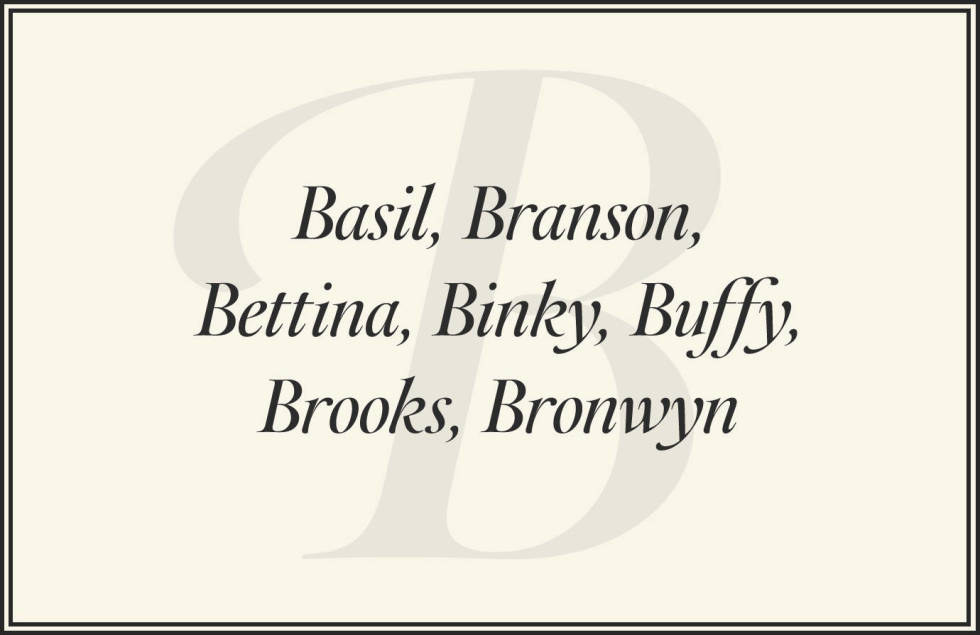 rich girl names that start with b