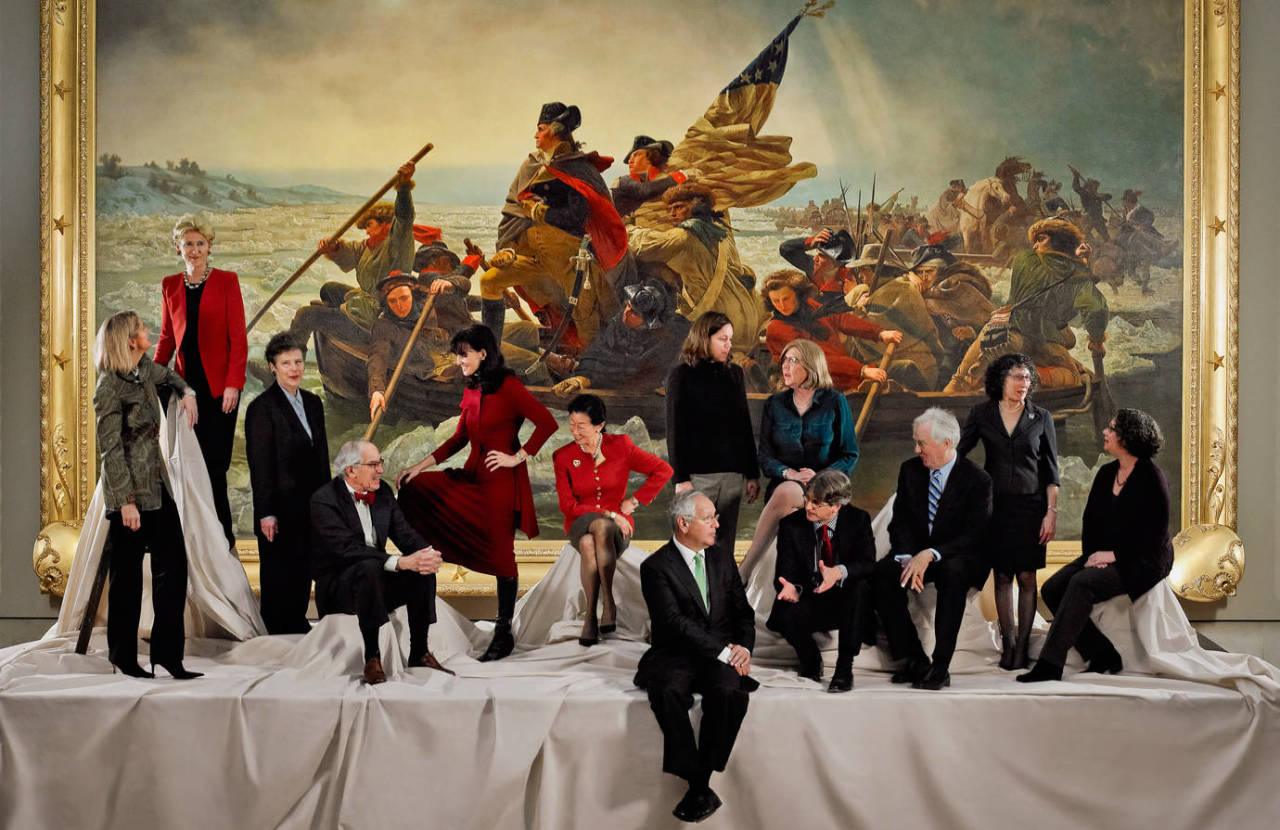 washington crossing guys Artist jon mcnaughton takes inspiration from famous emanuel leutze piece, washington crossing the delaware, but with trump at the helm.