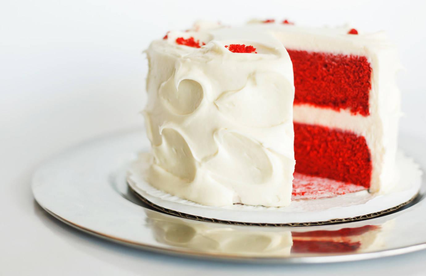 Two Little Red Hens Red Velvet Cake