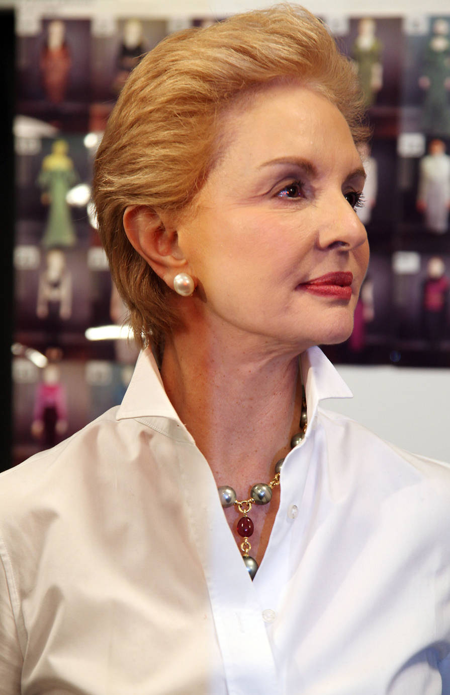 Carolina Herrera Style - White Blouse and Jewels